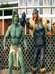 Cena do filme Hulk vs Thor .... assustador não?