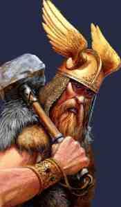 Na mitologia Thor é ruivo e mais nervoso